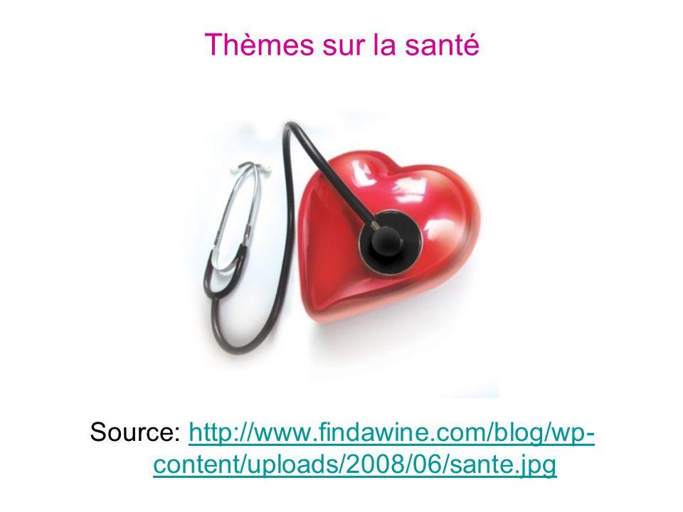 Thèmes sur la santé Source: http://www.findawine.com/blog/wp-content/uploads/2008/06/sante.jpg