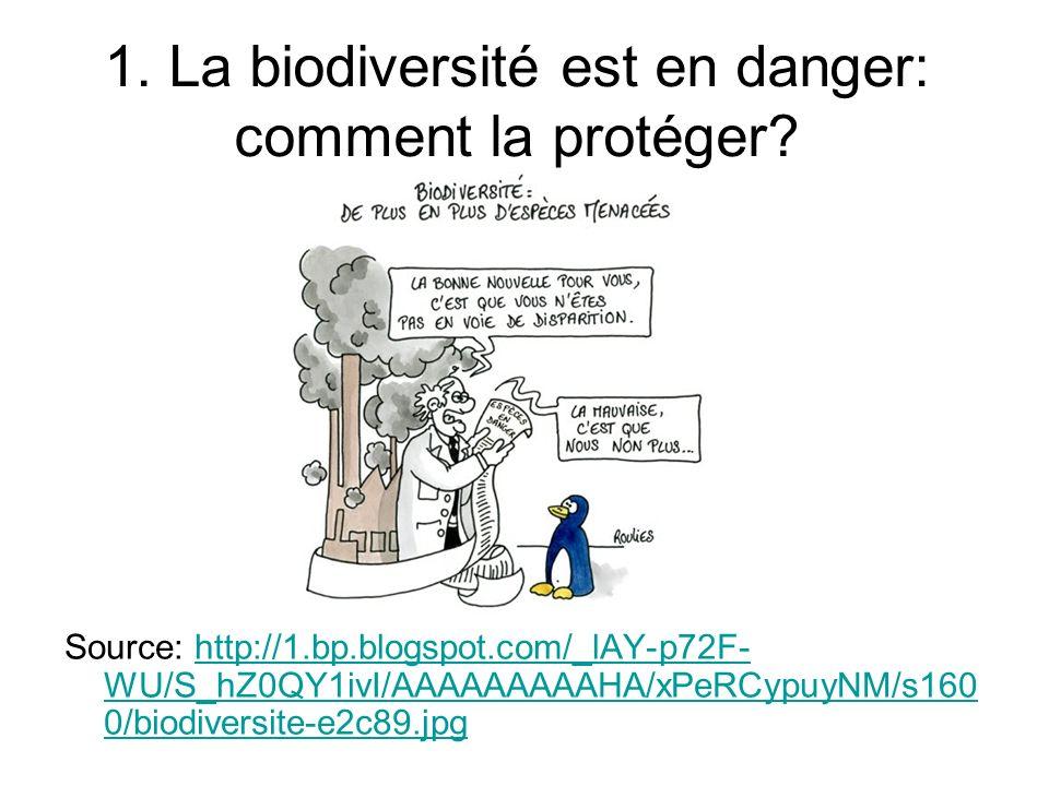 1. La biodiversité est en danger: comment la protéger