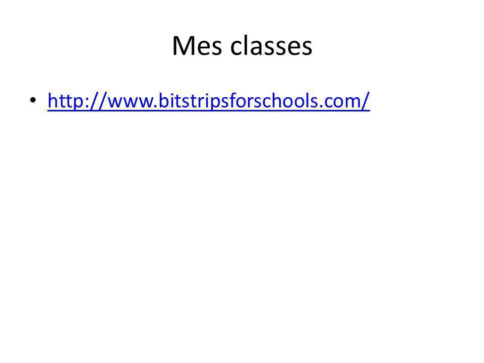 Mes classes http://www.bitstripsforschools.com/