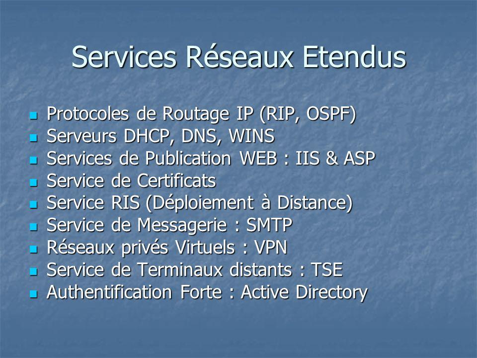 Services Réseaux Etendus