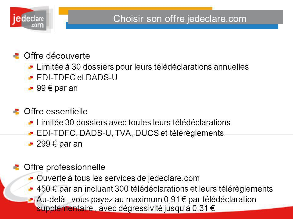 Choisir son offre jedeclare.com