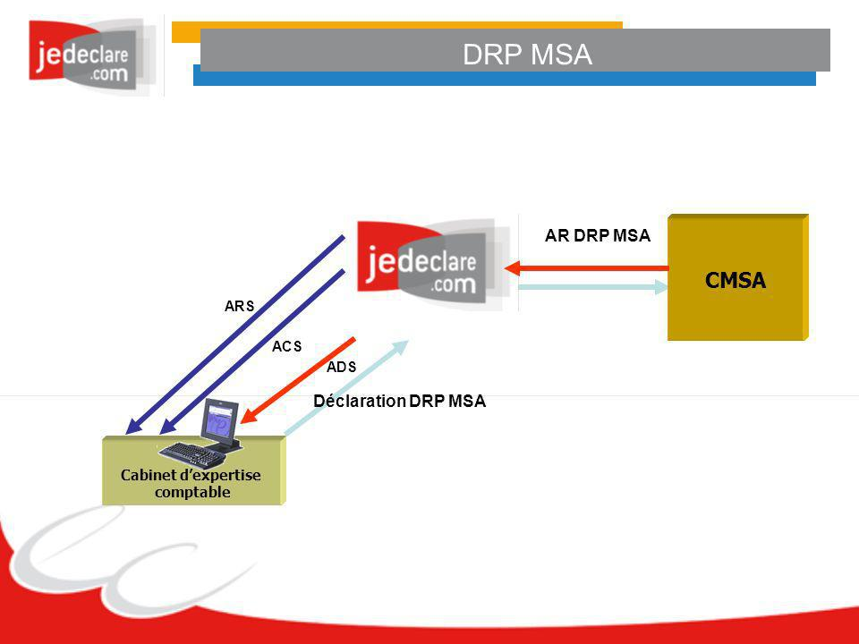 DRP MSA CMSA AR DRP MSA Déclaration DRP MSA ARS ACS ADS