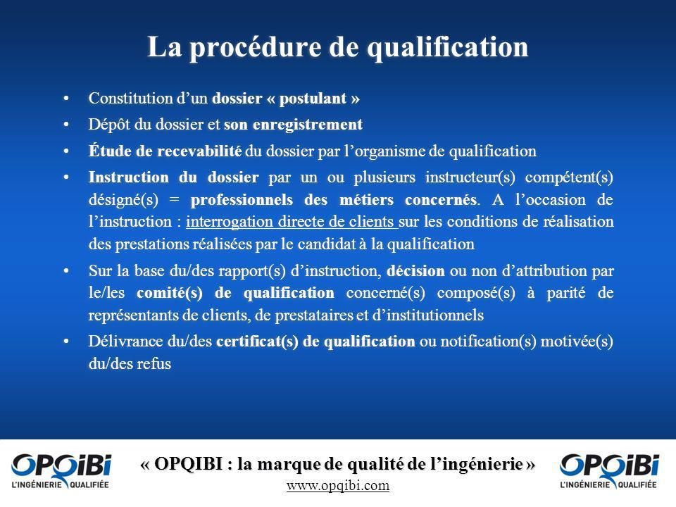 La procédure de qualification