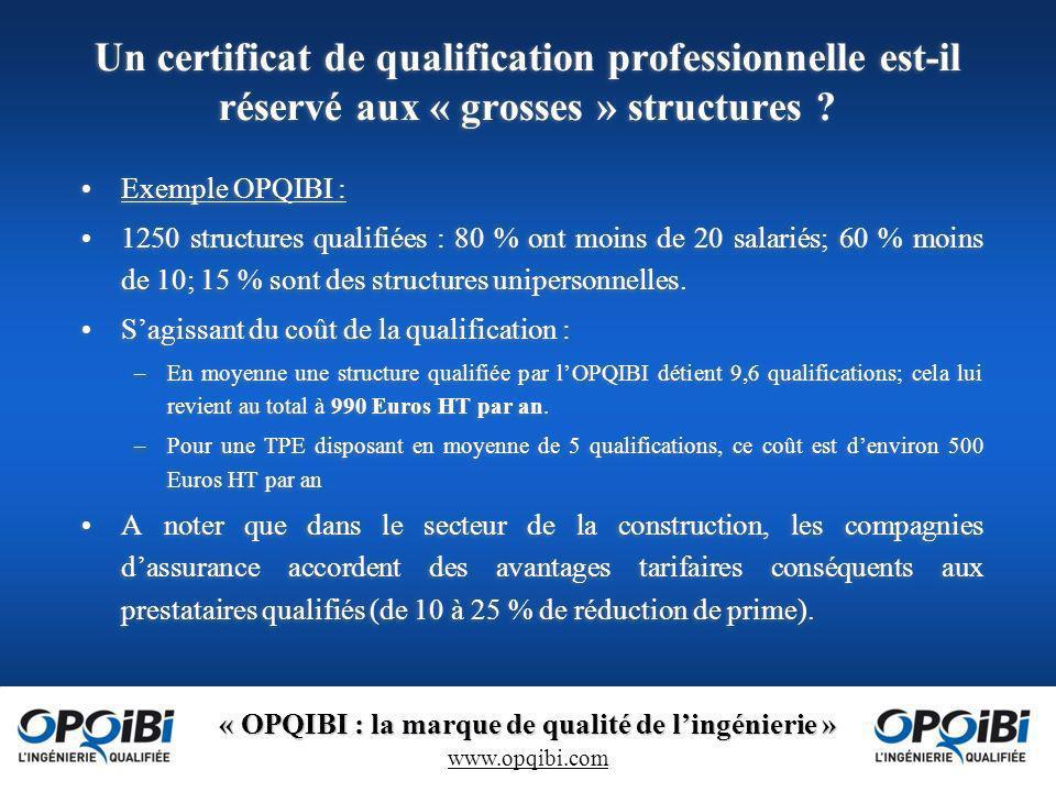 Un certificat de qualification professionnelle est-il réservé aux « grosses » structures