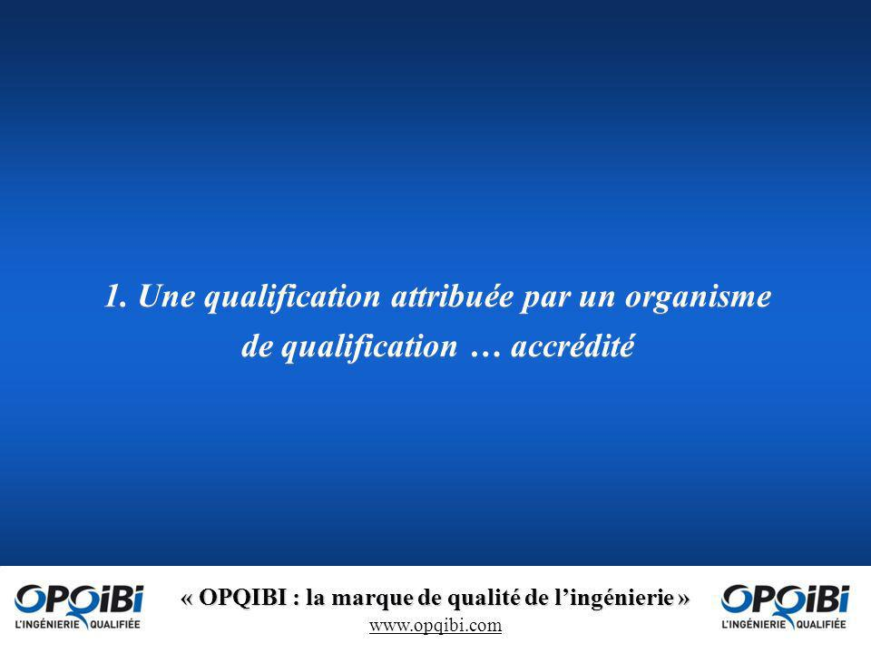 1. Une qualification attribuée par un organisme de qualification … accrédité