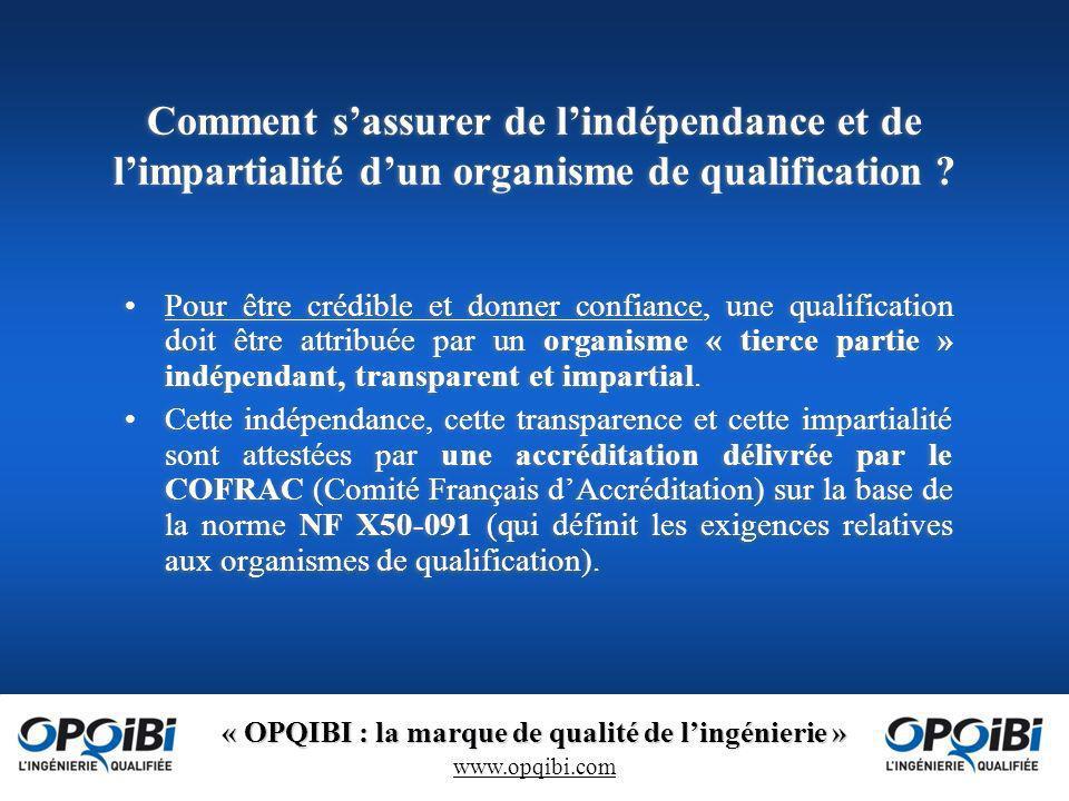 Comment s'assurer de l'indépendance et de l'impartialité d'un organisme de qualification