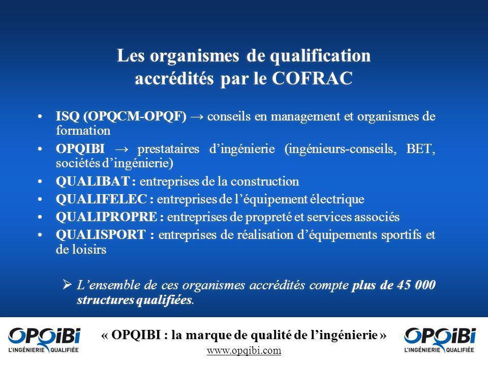 Les organismes de qualification accrédités par le COFRAC