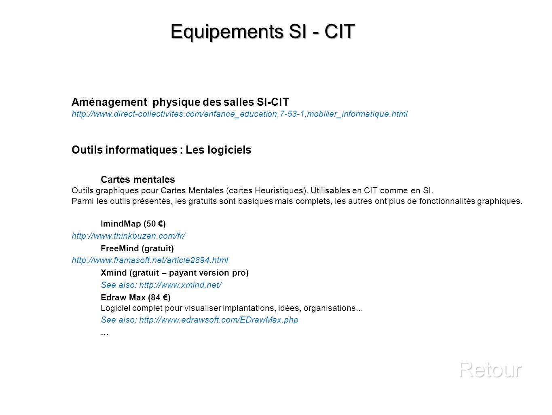 Retour Equipements SI - CIT Aménagement physique des salles SI-CIT