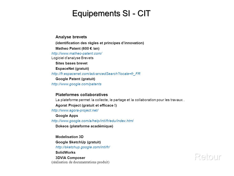 Retour Equipements SI - CIT