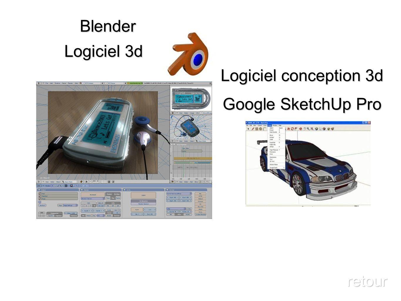 Blender Logiciel 3d Logiciel conception 3d Google SketchUp Pro retour