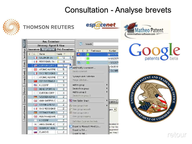 Consultation - Analyse brevets