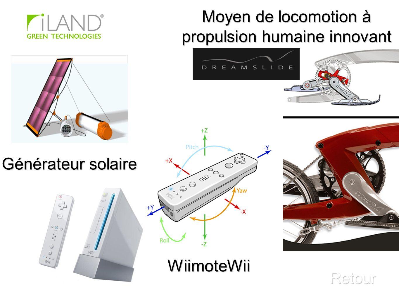Moyen de locomotion à propulsion humaine innovant