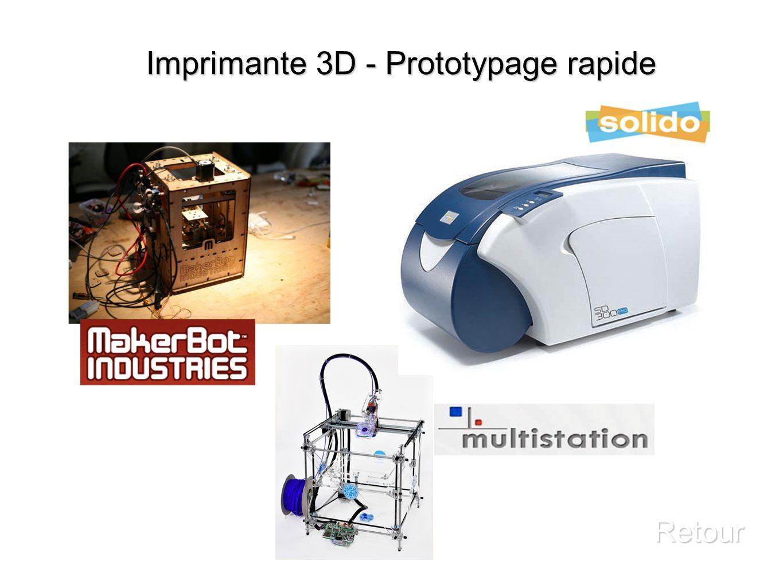 Imprimante 3D - Prototypage rapide