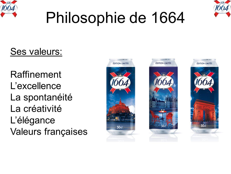 Philosophie de 1664 Ses valeurs: Raffinement L'excellence
