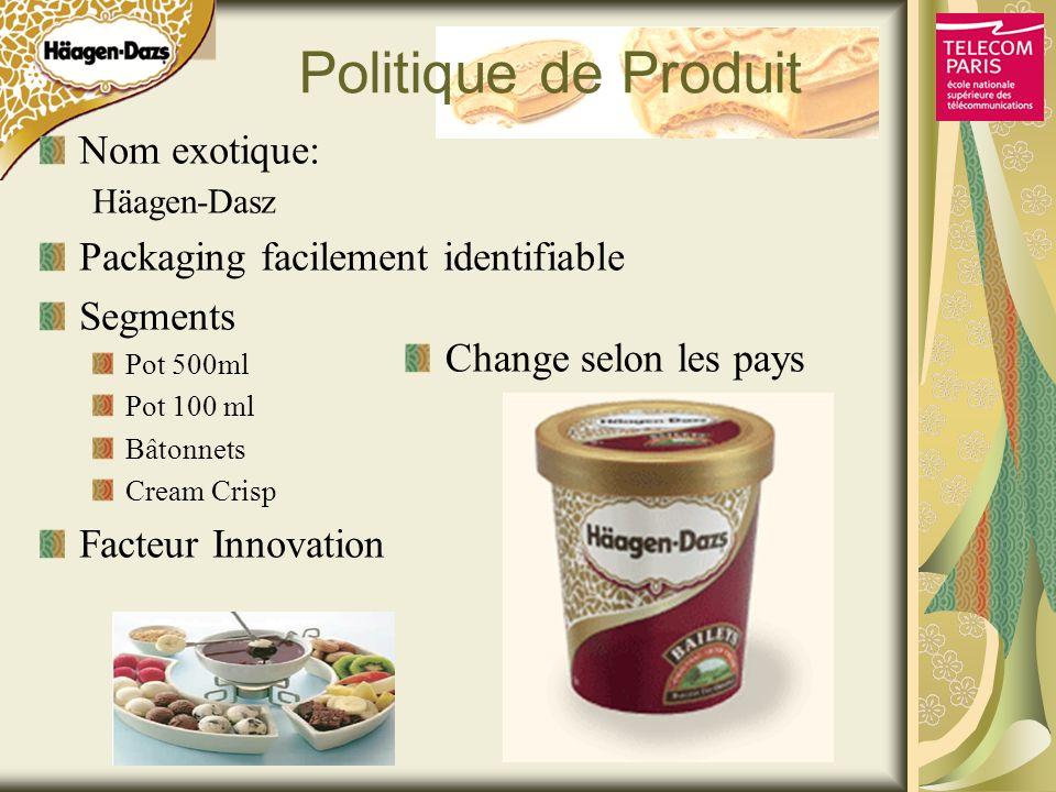 Politique de Produit Nom exotique: Packaging facilement identifiable