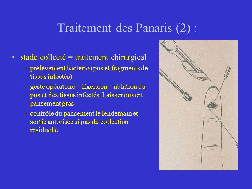 Traitement des Panaris (2) :
