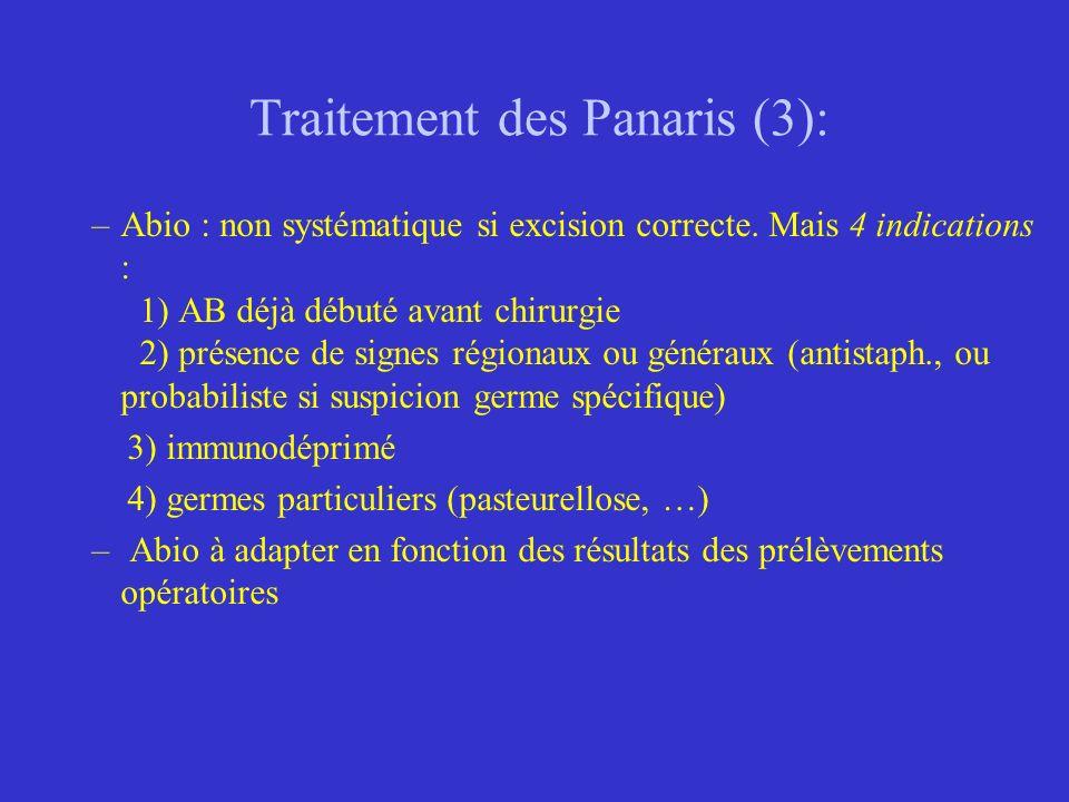 Traitement des Panaris (3):