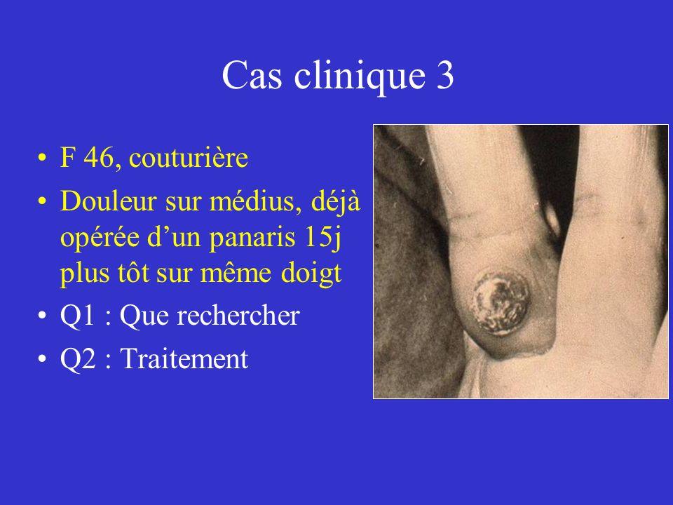 Cas clinique 3 F 46, couturière