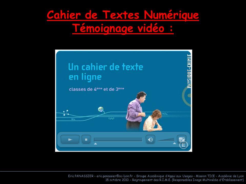 Cahier de Textes Numérique