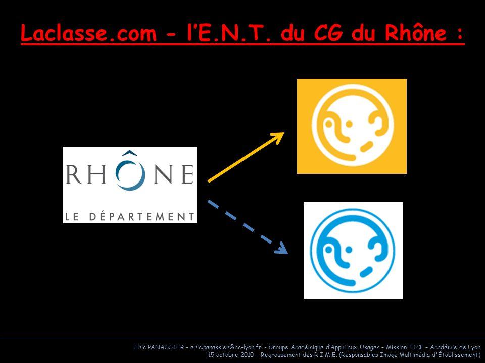 Laclasse.com - l'E.N.T. du CG du Rhône :