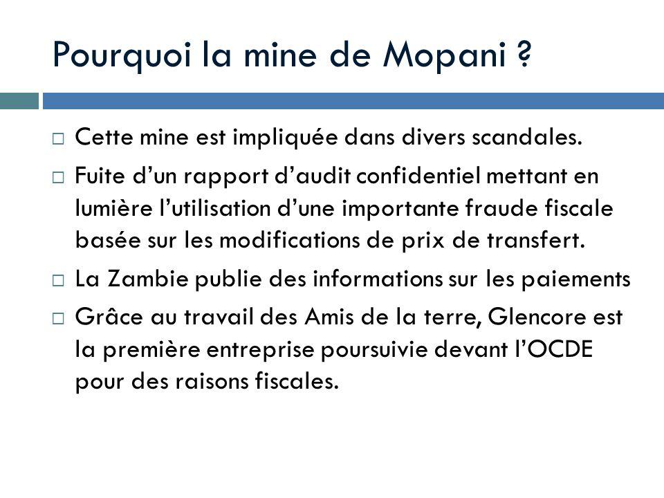 Pourquoi la mine de Mopani