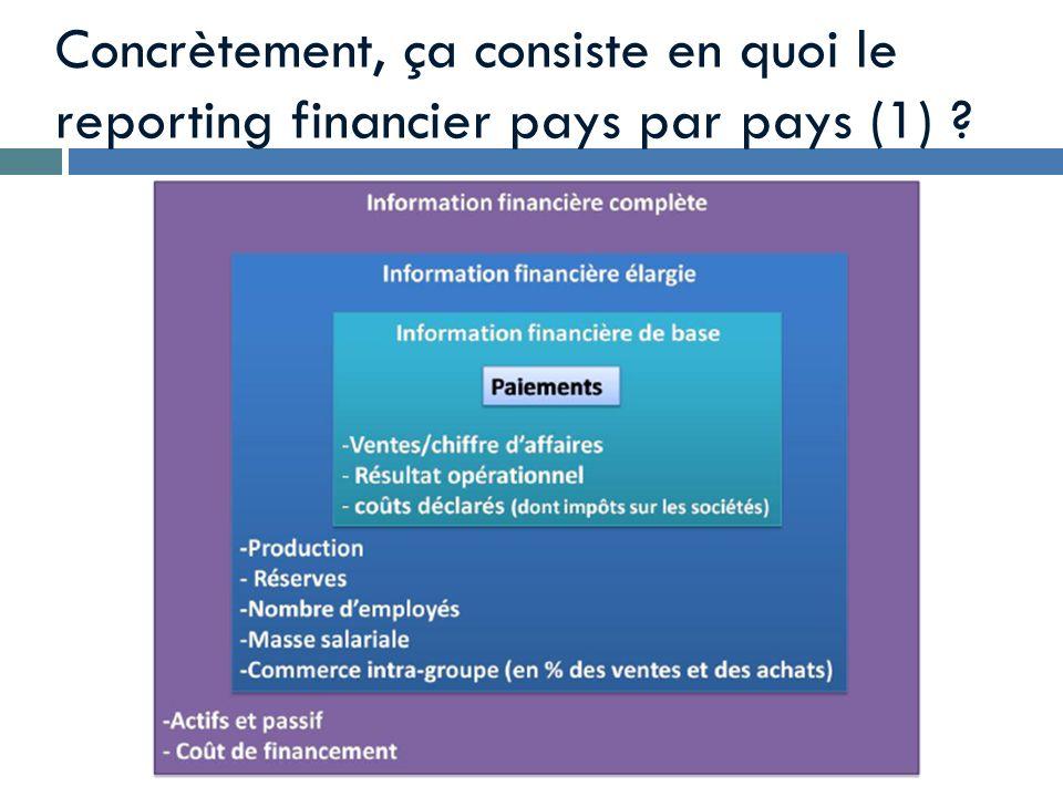 Concrètement, ça consiste en quoi le reporting financier pays par pays (1)