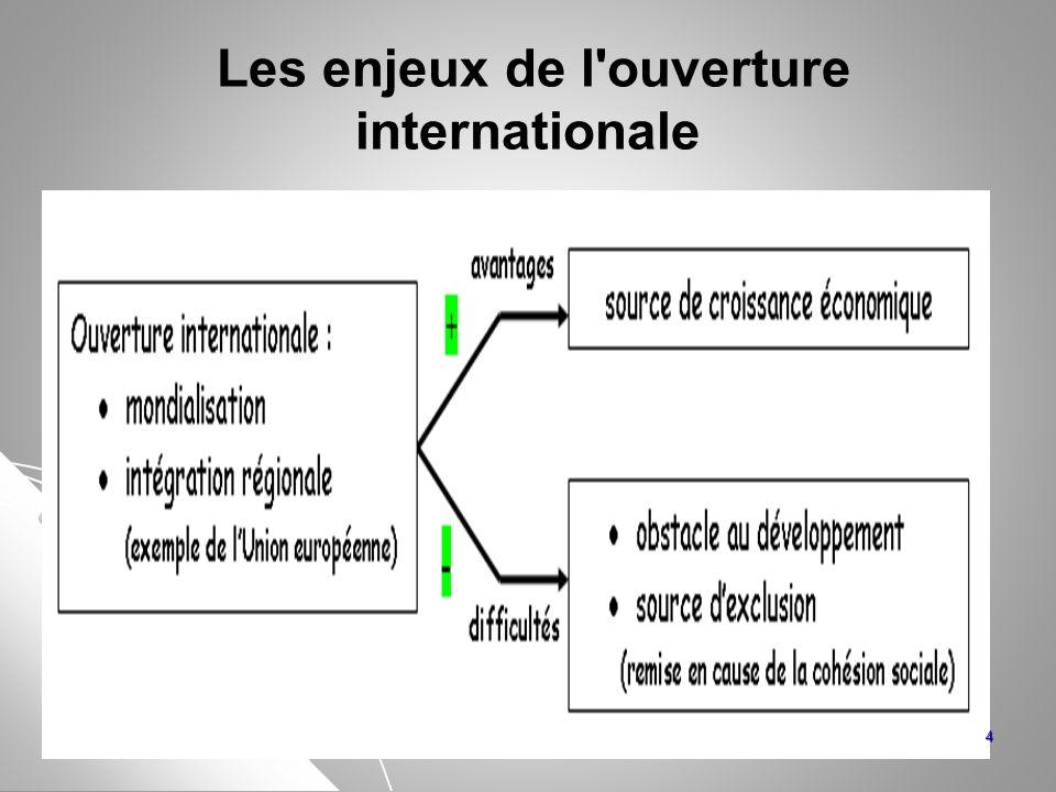Les enjeux de l ouverture internationale
