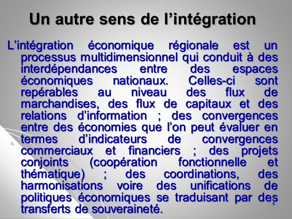 Un autre sens de l'intégration
