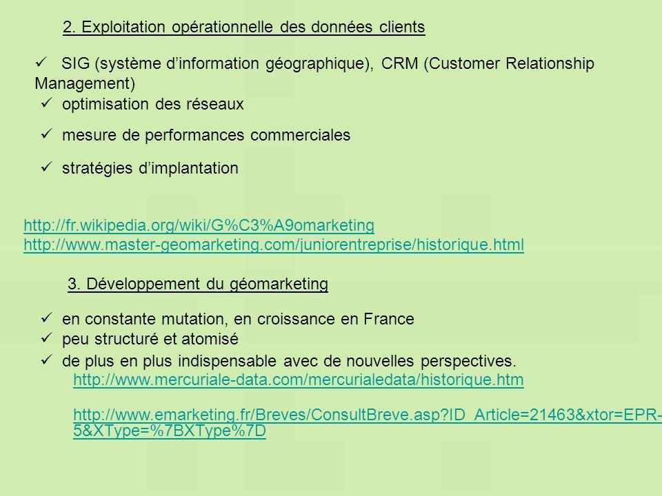 2. Exploitation opérationnelle des données clients