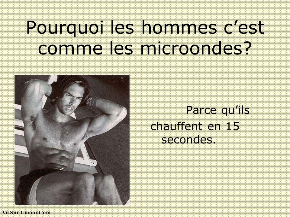 Pourquoi les hommes c'est comme les microondes