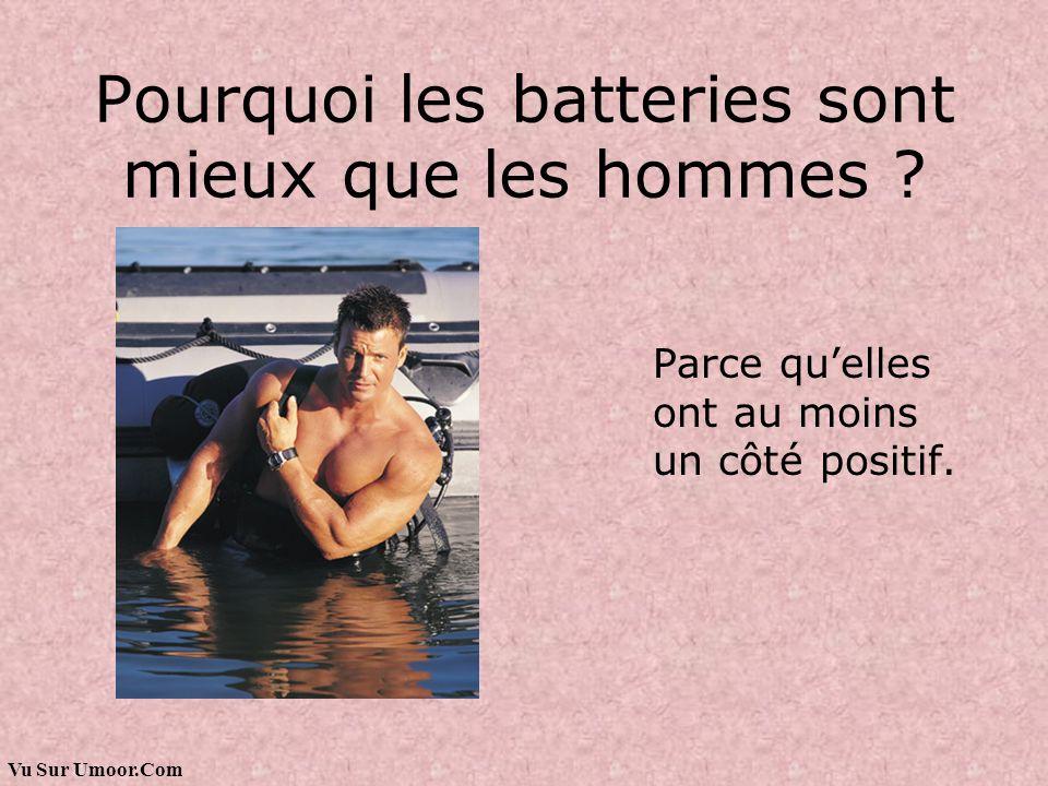 Pourquoi les batteries sont mieux que les hommes