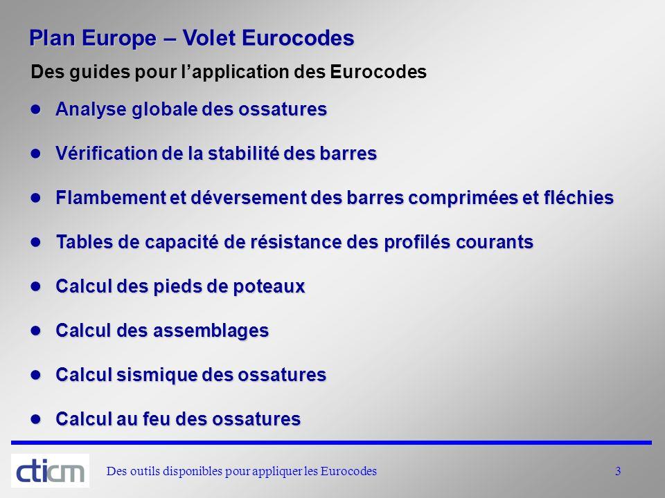 Plan Europe – Volet Eurocodes