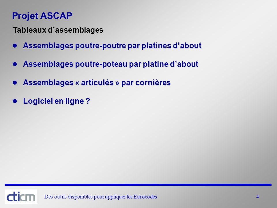 Projet ASCAP Tableaux d'assemblages