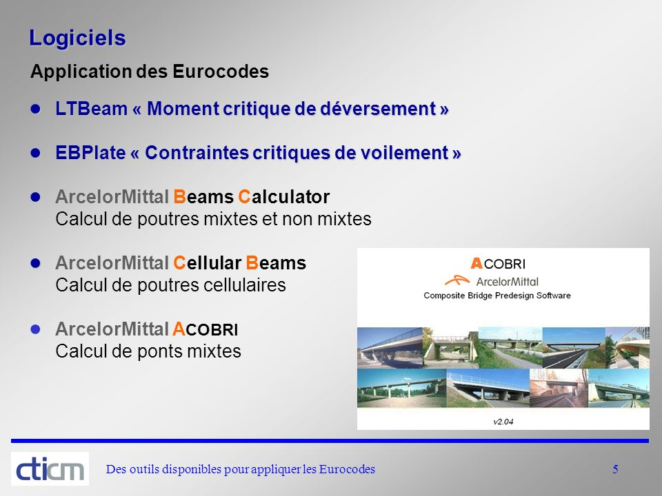 Logiciels Application des Eurocodes