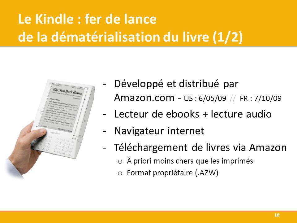 Le Kindle : fer de lance de la dématérialisation du livre (1/2)