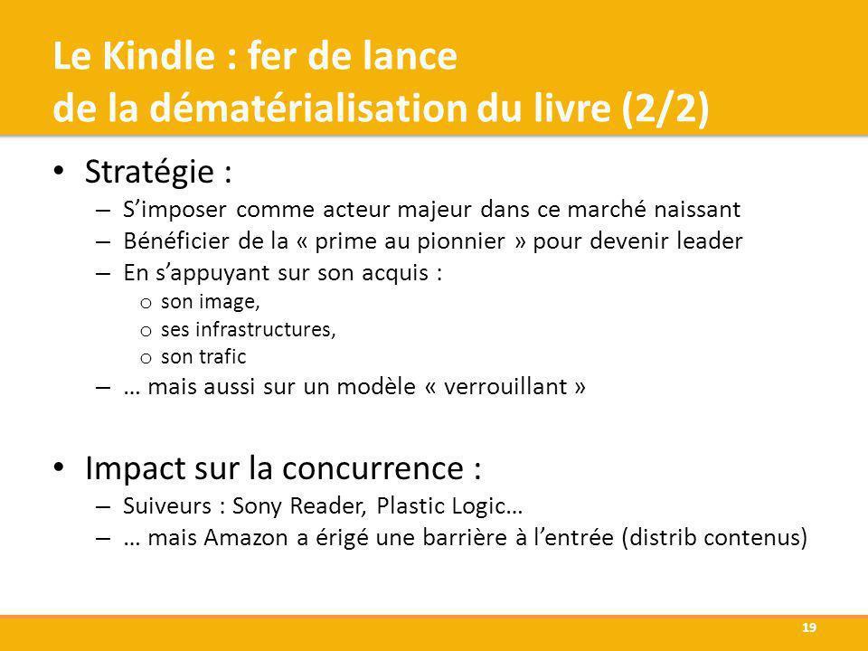 Le Kindle : fer de lance de la dématérialisation du livre (2/2)
