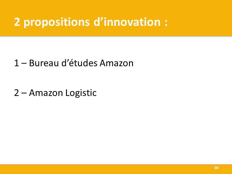 2 propositions d'innovation :