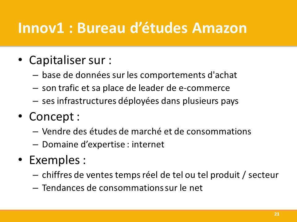 Innov1 : Bureau d'études Amazon