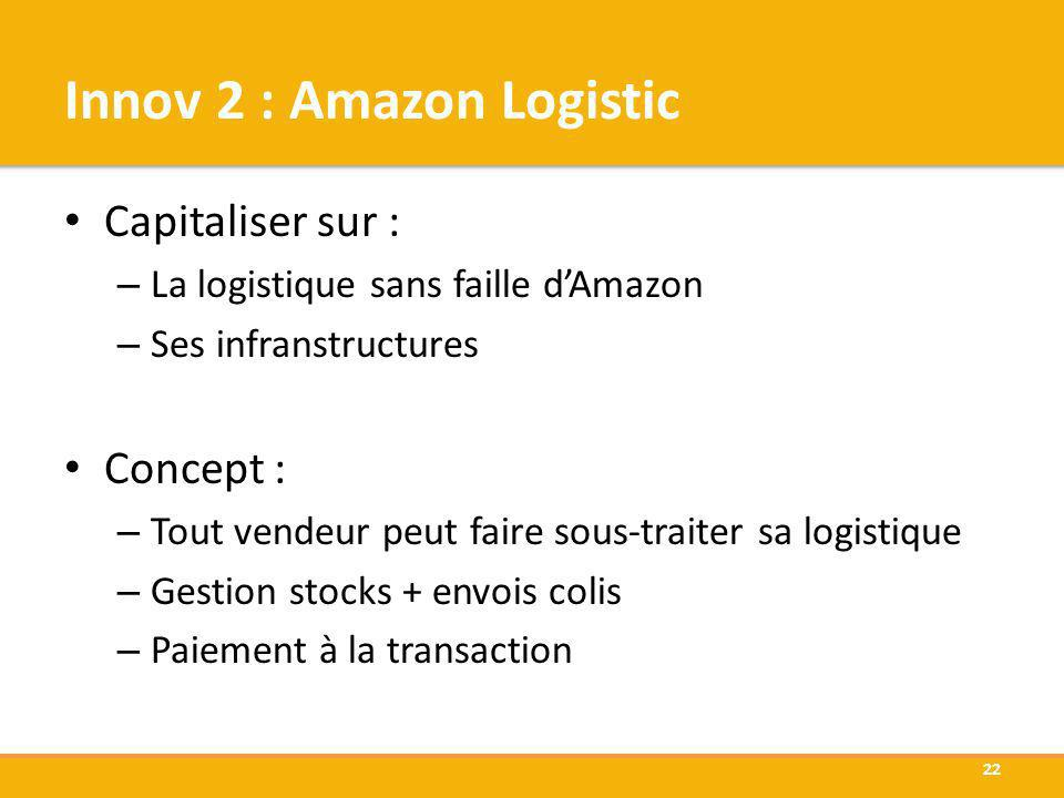 Innov 2 : Amazon Logistic