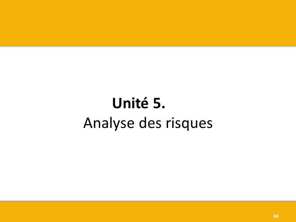 Unité 5. Analyse des risques