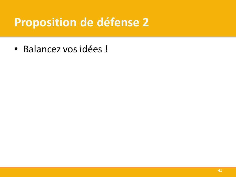 Proposition de défense 2