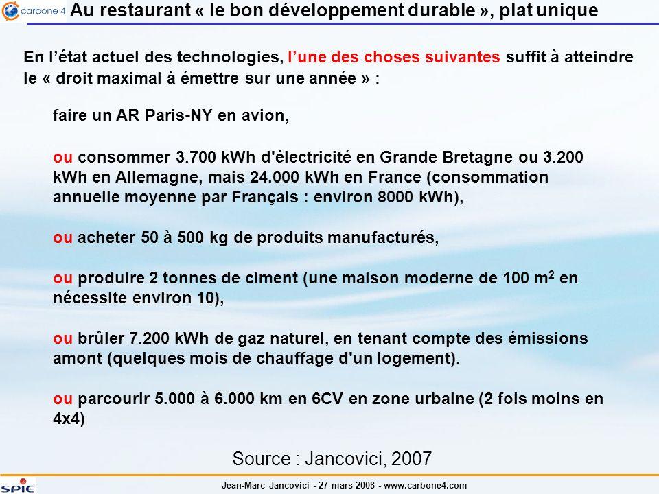 Au restaurant « le bon développement durable », plat unique