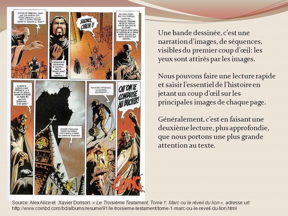 Une bande dessinée, c'est une narration d'images, de séquences, visibles du premier coup d'œil: les yeux sont attirés par les images.