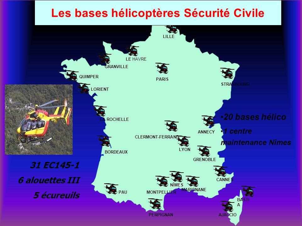 Les bases hélicoptères Sécurité Civile