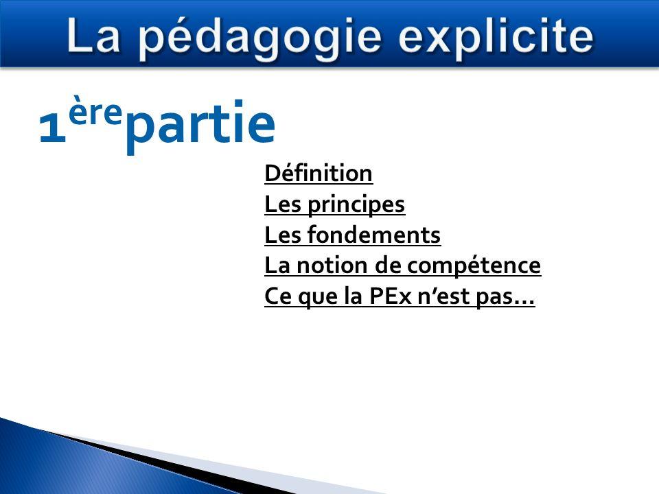 La pédagogie explicite