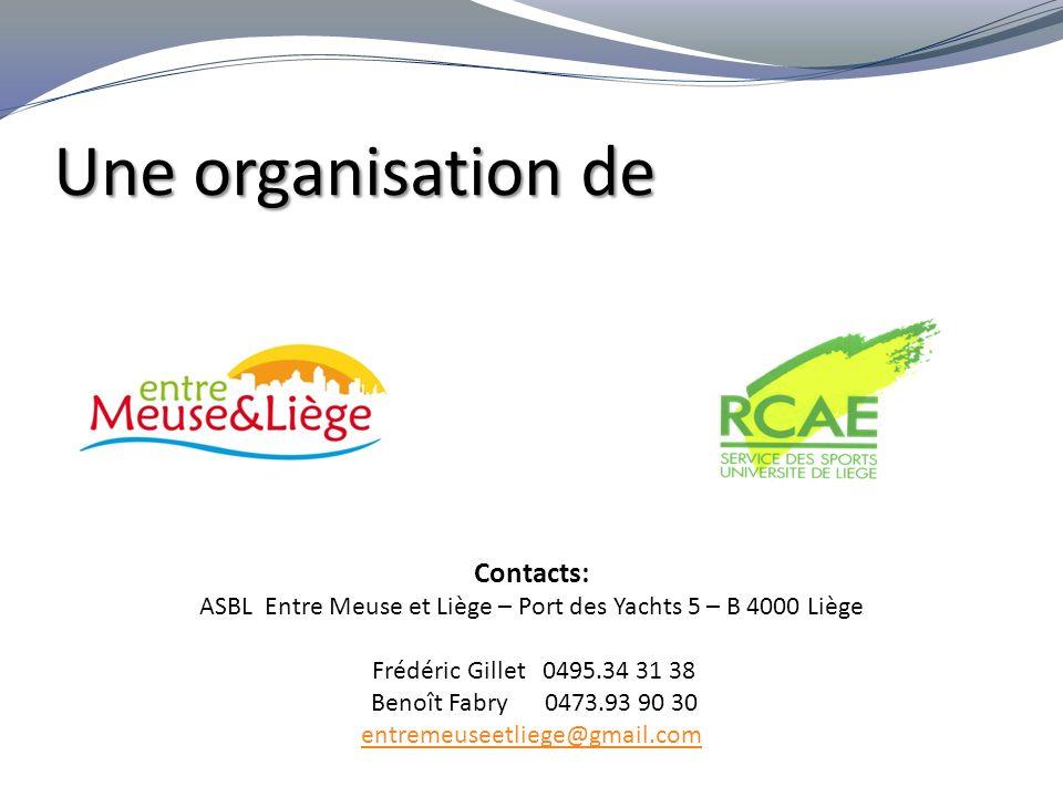 ASBL Entre Meuse et Liège – Port des Yachts 5 – B 4000 Liège