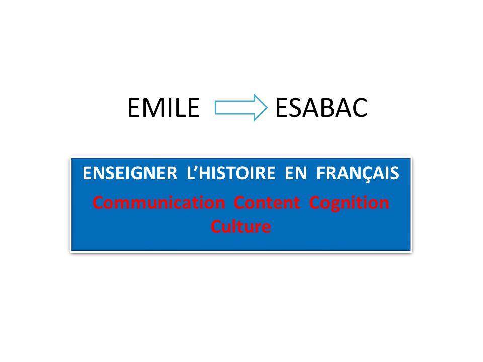 EMILE ESABAC ENSEIGNER L'HISTOIRE EN FRANÇAIS