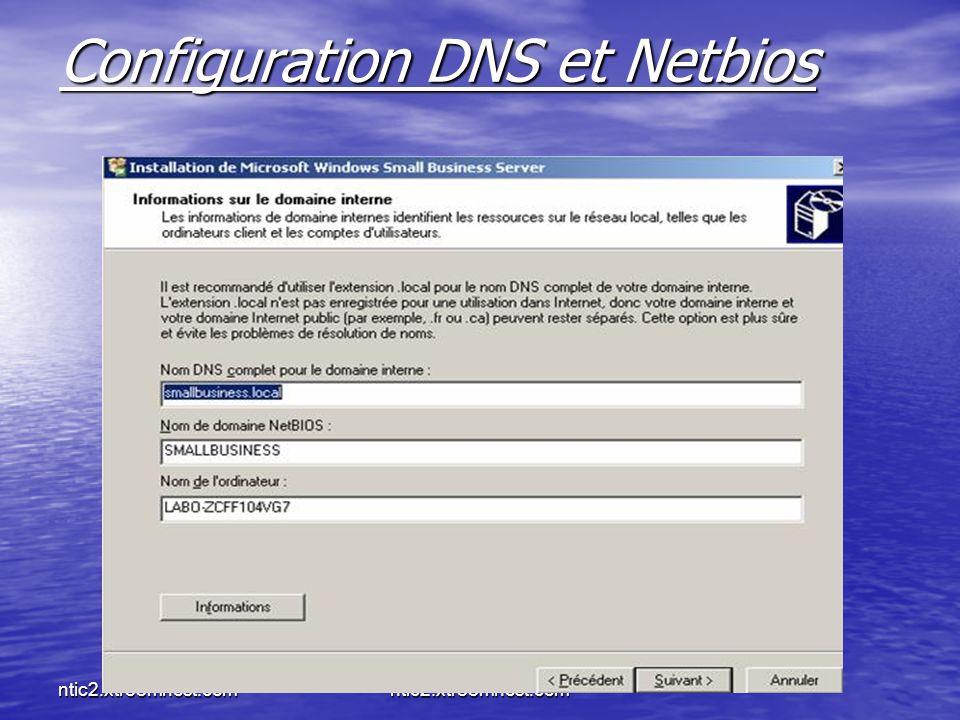 Configuration DNS et Netbios