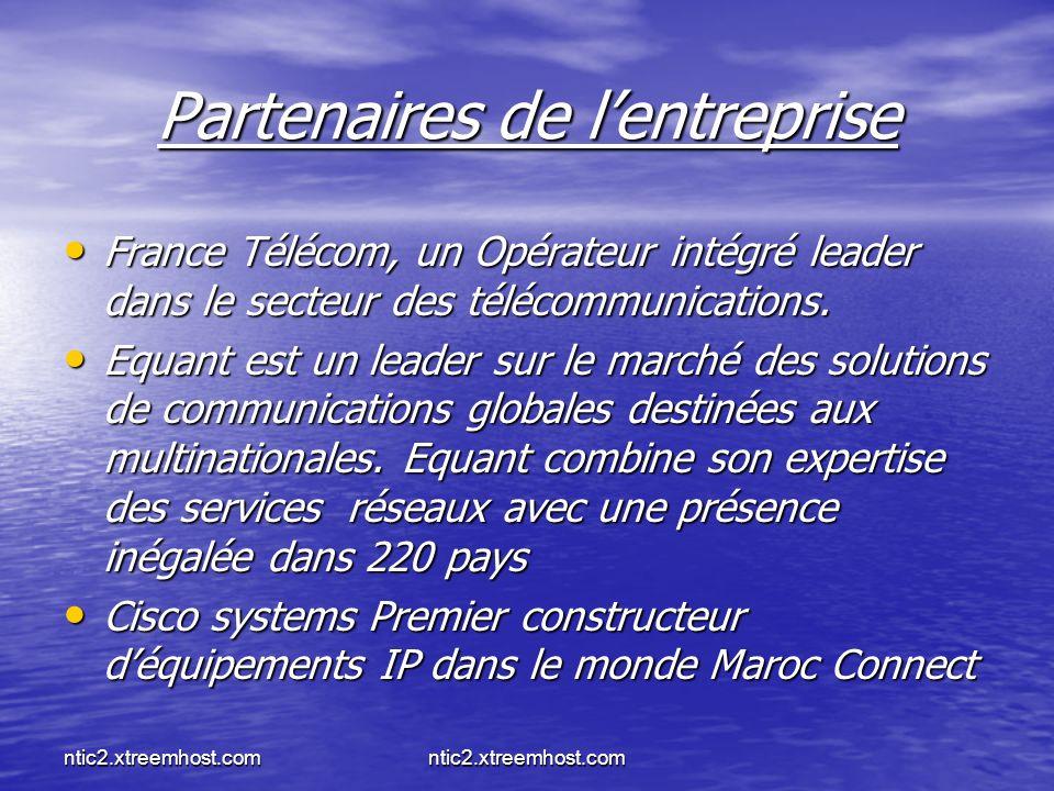Partenaires de l'entreprise