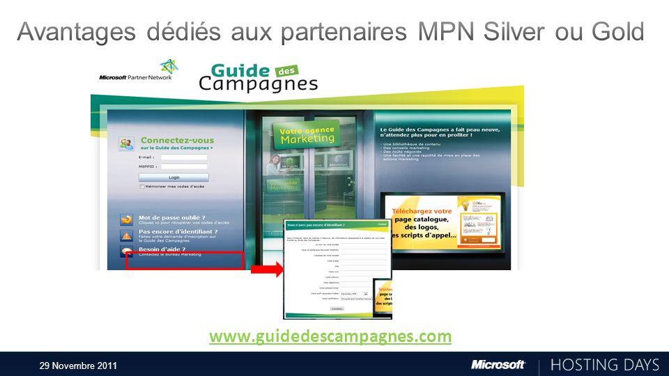 Avantages dédiés aux partenaires MPN Silver ou Gold